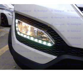 Противотуманные фары (H8/H27) с DRL Hyundai Santa Fe 2013