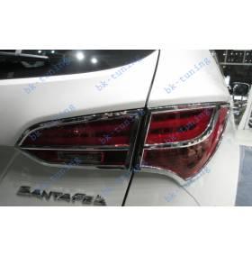 Хром накладка на задние фонари Santa Fe 2012 (HS-L32)