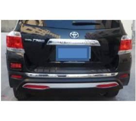 Накладка на задний бампер Toyota Higlander 2012 (HL-B22)