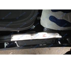 Накладки на пороги Kia Sportage 3 внутренние (KSP-P01)