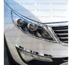 Хром накладки на фары Kia Sportage 3 (KSP-L01)
