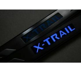 Накладки на пороги с подсветкой Nissan X-Trail (NX-P02)