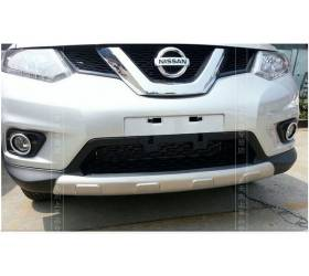 Накладки на бампера Nissan Xtrail 2014 (NX-B45)