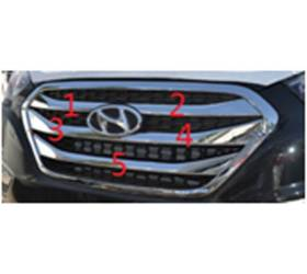 Декор на решетку радиатора Hyunda IX35 2014 (HT-C32)