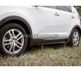 Пороги пластиковые Kia Sportage 2010-2013 (RE-22766)