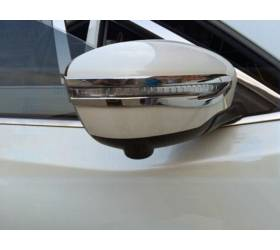 Хром накладки на зеркала Nissan X-Trail 2014 (NX-C41)