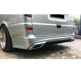 Накладка на задний бампер Vito W639 AMG-style