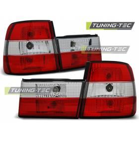 Задняя оптика красно-белая диодная BMW E34 (LTBM10)