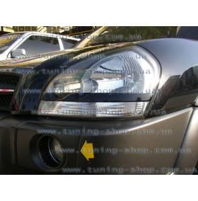 Реснички Hyundai Tucson (из 2х частей, нижние)