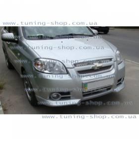 Накладка переднего бампера Chevrolet Aveo (уголки)