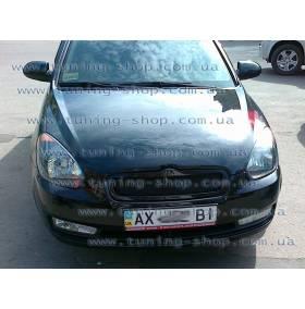 Решетка радиатора Hyundai Accent (Сетка без значка)