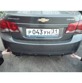 Диффузор на задний бампер Chevrolet Cruze