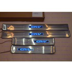 Накладки на пороги с подсветкой Honda CRV 2012