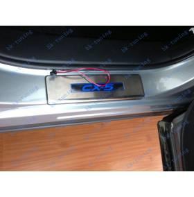 Накладки на пороги с подсветкой Mazda CX-5