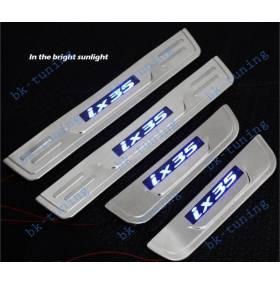 Накладки на пороги с подсветкой Hyundai IX35