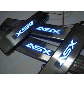 Накладки на пороги с подсветкой Mitsubishi ASX