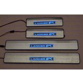 Накладки на пороги с подсветкой Lancer X