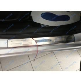 Накладки на пороги с подсветкой Chevrolet Aveo T300