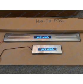 Накладки на пороги с подсветкой Ford Kuga (FK-P36)
