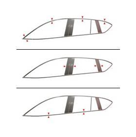 Хром молдинги на окна Geely GX7 (GX7-D21-23)