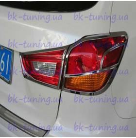 Хром на задние фонари Mitsubishi ASX (MA-L32)