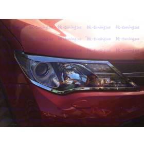 Хром накладки на фары Toyota Rav-4 2013 (RV-L31)