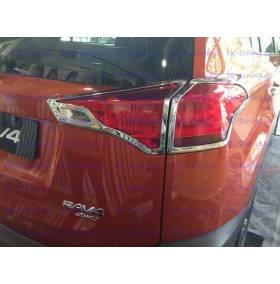 Хром на задние фонари Toyota Rav-4 2013 (RV-L33)