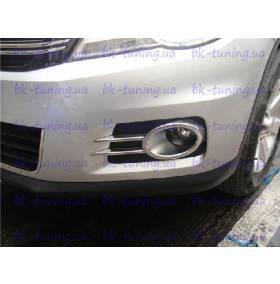 Хром на передние туманки VW Tiguan (TG-L23)