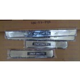 Накладки на пороги с подсветкой Infiniti FX35 (FX-P11)