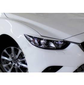 Реснички на фары Mazda 6 2013
