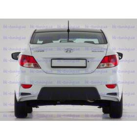 Задний бампер Hyundai Solaris (YT)