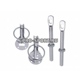 Замки на капот серебро (RS-00718)