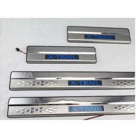 Накладки на пороги с подсветкой X-Trail 2014 (NX-P45)