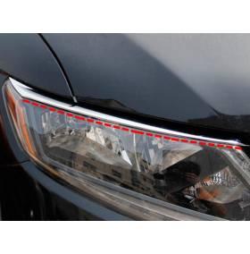 Хром на фары (окаймление) Nissan X-Trail 2014 (NX-L41)