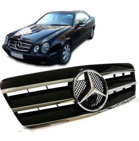 Решетка радиатора Mercedes CLK W208 (Black Optic)