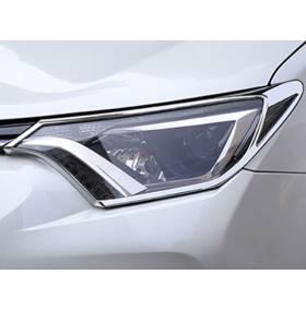 Хром передних фар Toyota RAV4 2016 (RV-L61A)