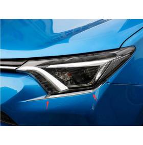Хром на фары низ Toyota RAV 4 2016+ (RV-L61B)