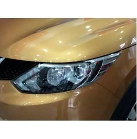 Хром на фары Nissan Qashqai 2015+ (NQ-L51)