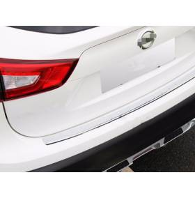 Хром накладка на порог задней двери Nissan Qashqai 2015+ (NQ-P51)
