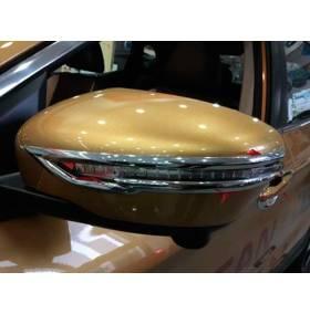 Хром на зеркала Nissan Qashqai 2015+ (NQ-C52)