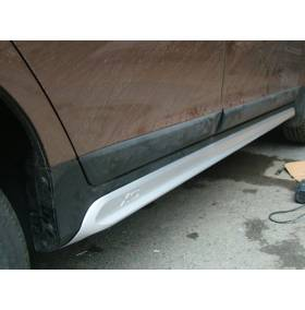 Накладки на пороги с хромом для Volvo XC60 2008-13 (XC6-S22)