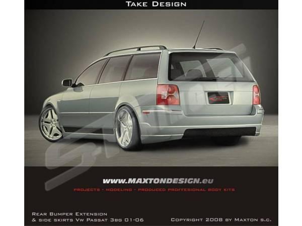 Накладка заднего бампера Extension Wagon тюнинг обвес VW Passat B5