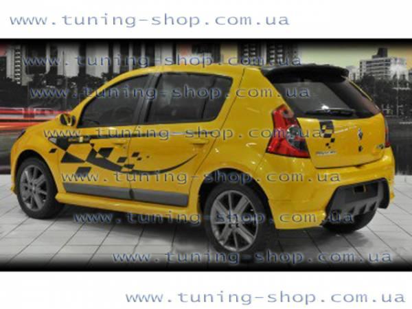 Спойлер на крышу - тюнинг обвес к Dacia Sandero