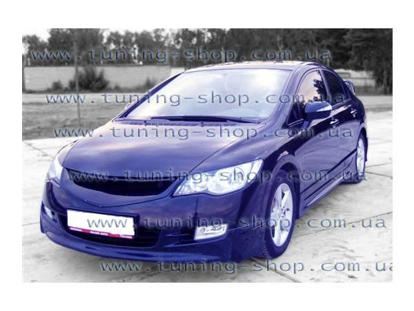 Юбка передняя Mugen-style - тюнинг обвес Honda Civic 06