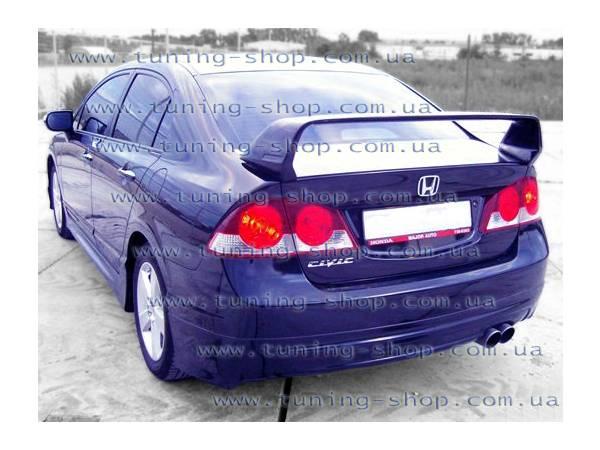 Юбка заняя Mugen-style тюнинг обвес Honda Civic 06