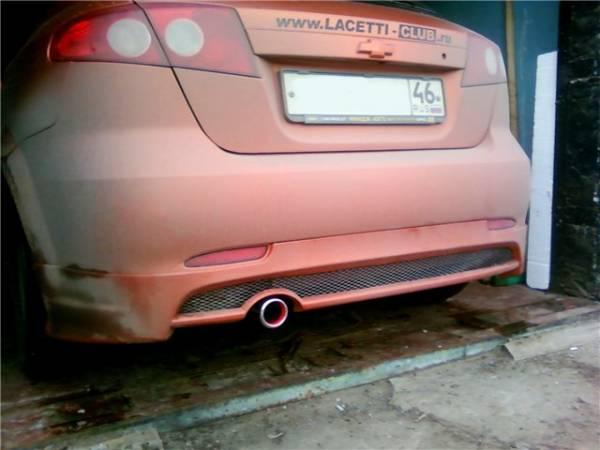 Накладка заднего бампера Chevrolet Lacetti Hb (GM)
