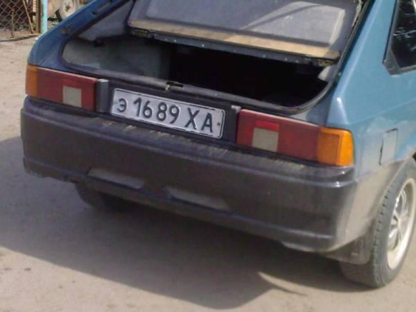 Задний бампер Москвич 2141