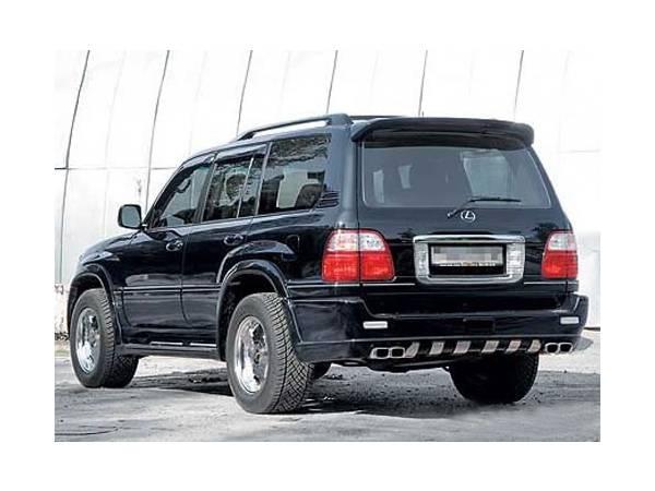 Накладка на задний бампер Lexus LX 470