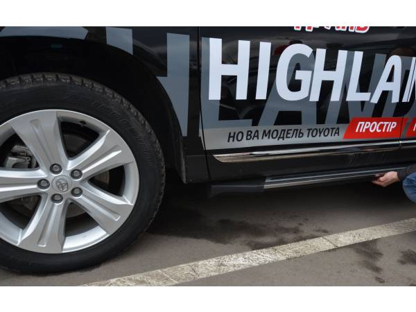 Пороги Toyota Highlander 2012