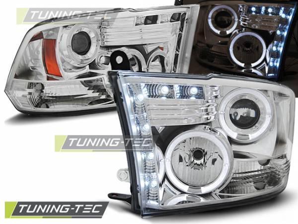 Передние фары Dodge Ram 2009-2011 (LPDO07)